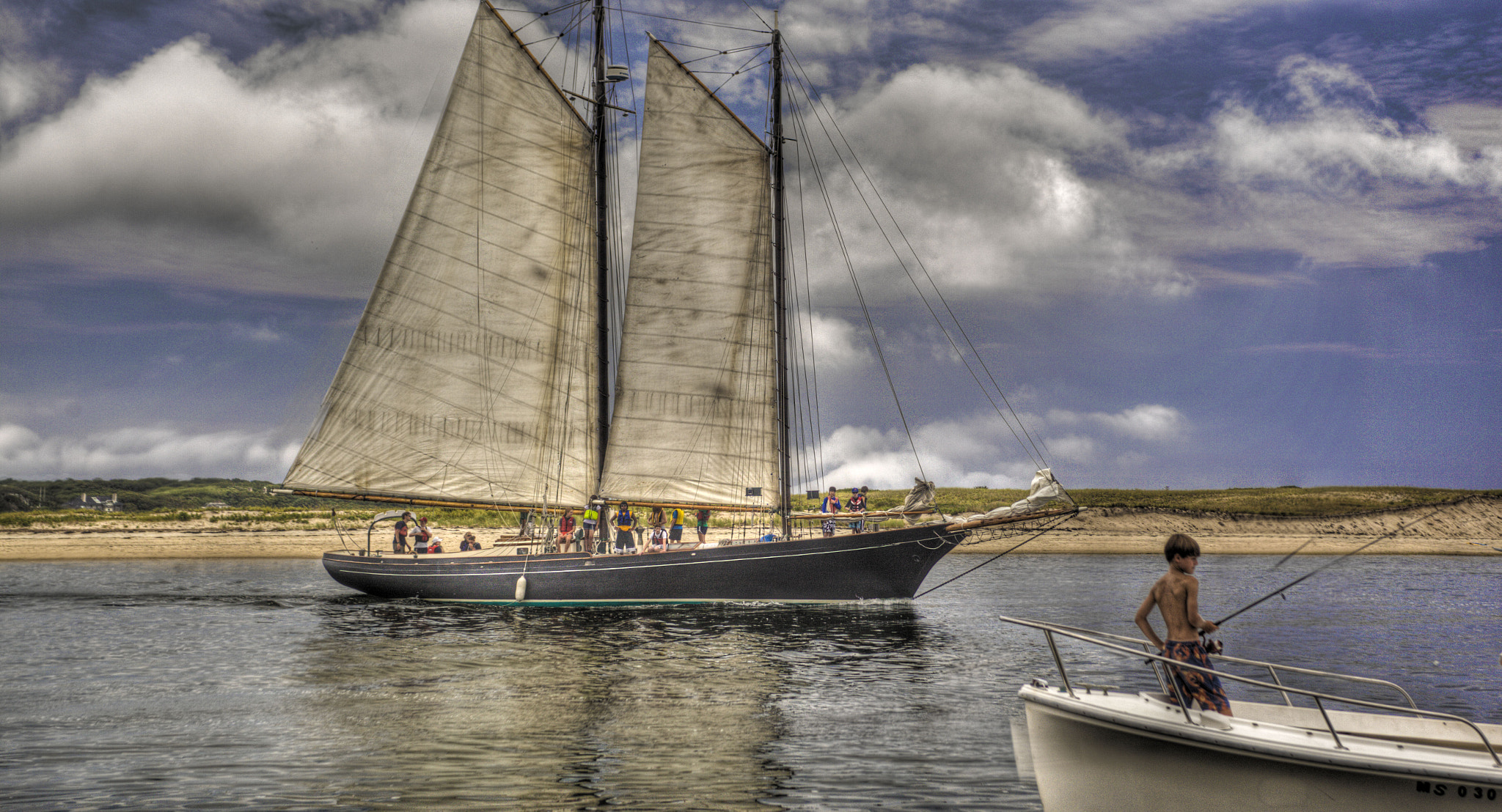 Photograph Outbound Schooner by Terry Letton on 500px