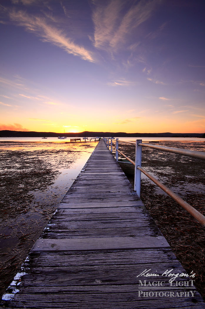 Photograph Yattalunga Jetty Sunset by Kevin Morgan on 500px