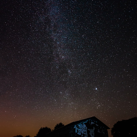 a house under the stars