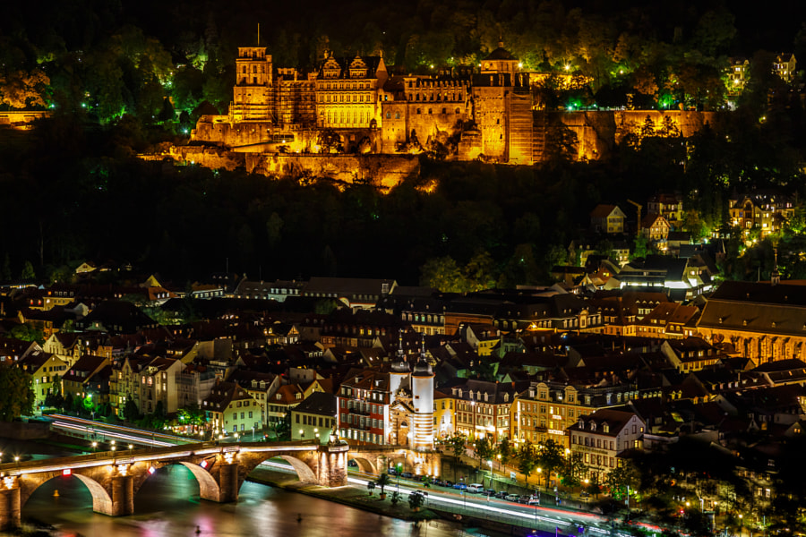 Photograph Heidelberg @ Night by drawwithlight on 500px
