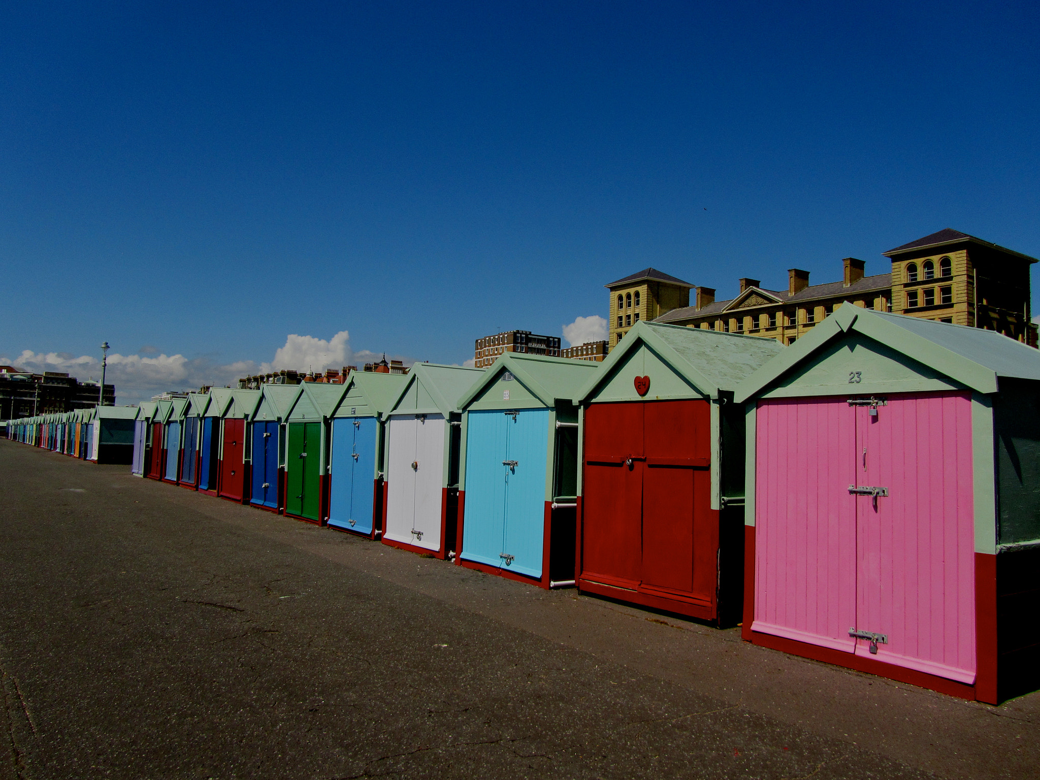Photograph Beach Huts Hove by Audrey H on 500px