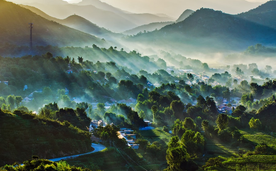 Photograph 水墨七星台-Morning village by Yifei Wang (王一非) on 500px