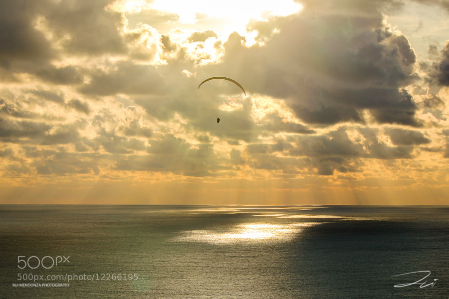 Photograph Paragliding Sunset by Rui Mendonza on 500px
