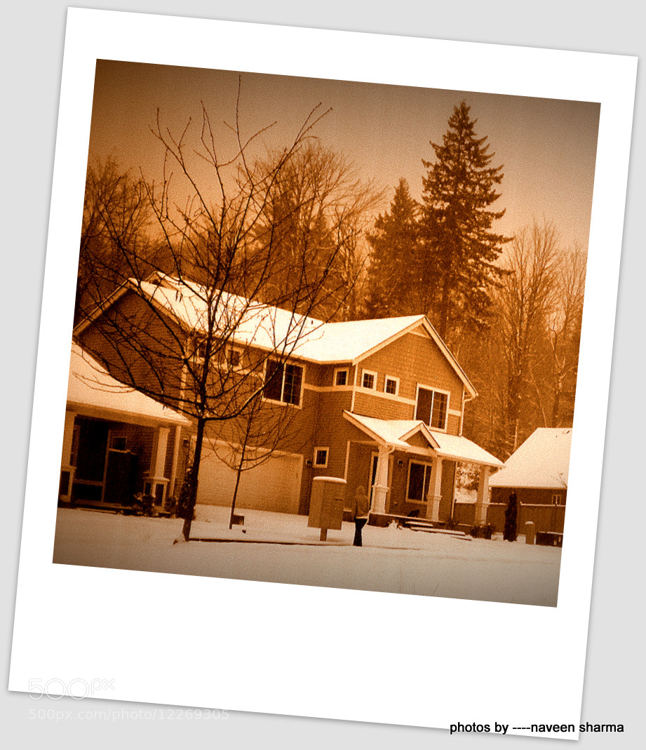 Photograph Snowfall over valley houses,SNOQUALMIE,WA by naveen sharma on 500px