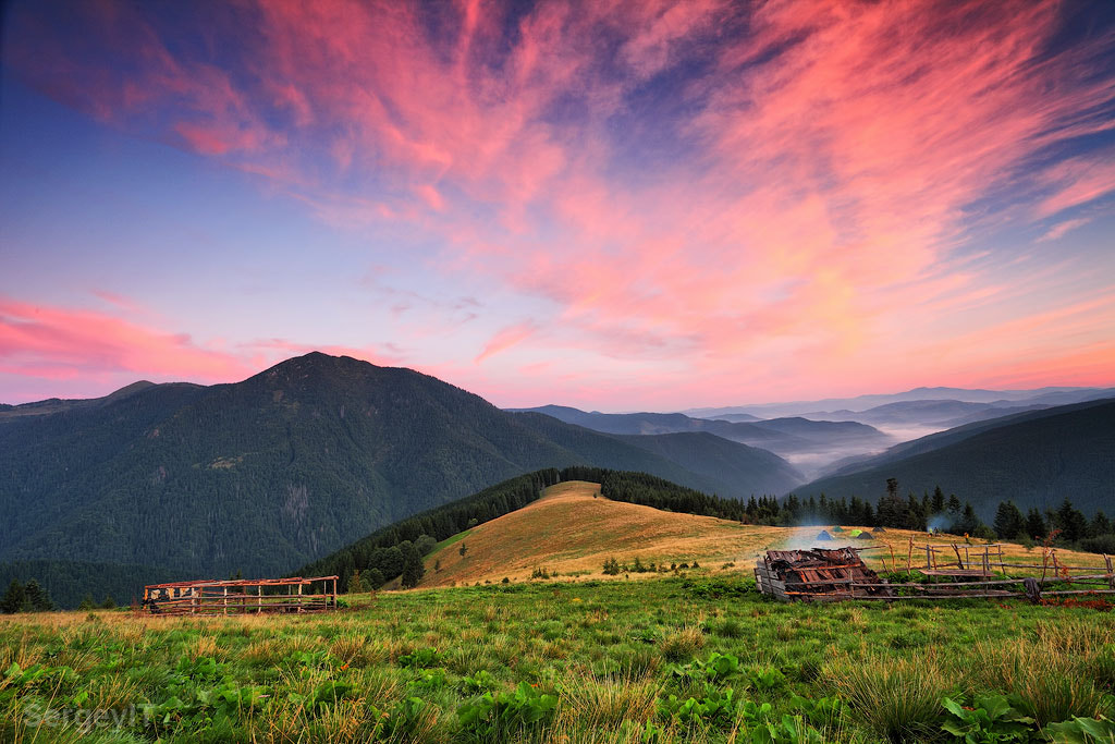 Photograph Sunrise clouds and fog over Carpathians hills by Sergiy Trofimov on 500px