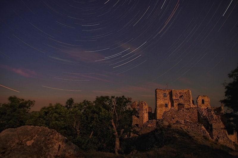 Photograph Night in the castle ruins by  kluciar.webnode.sk on 500px