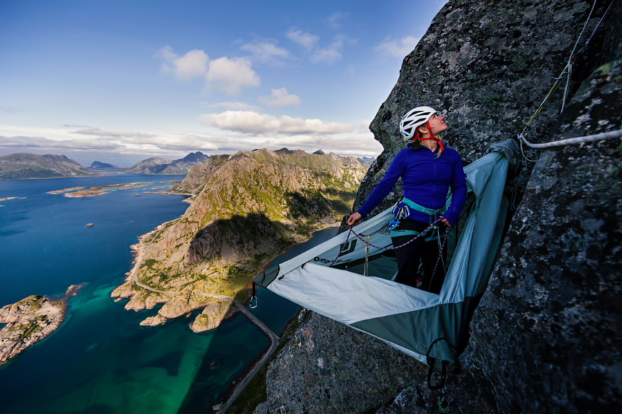 Photograph Hazel Findlay - Lofoten Portaledge by Chris  Prescott on 500px