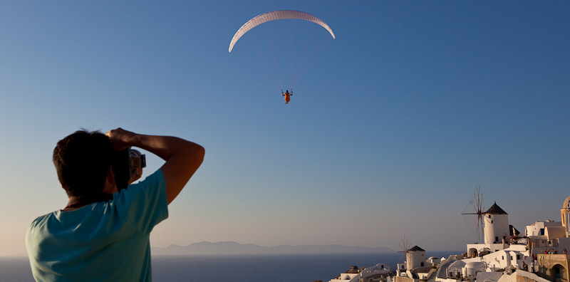 Photograph Photographer on isle Santorini by Heiko Etzrodt on 500px