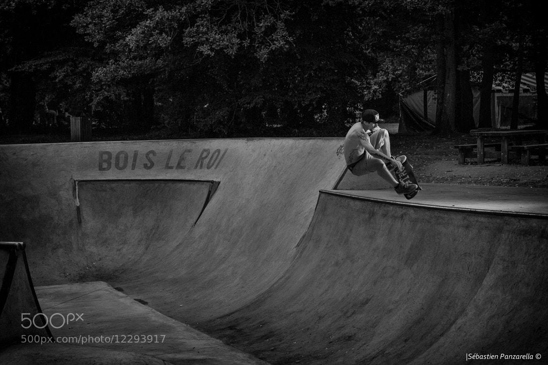 Photograph Christophe, Frontside Ollie @Bois le roi by Sébastien Panzarella on 500px
