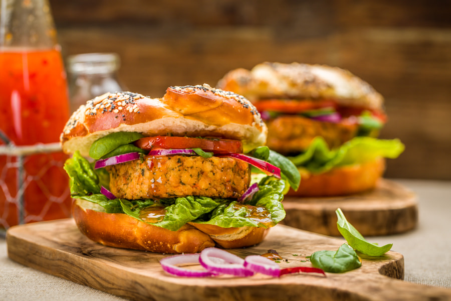Healthy Vegan Burger by Christian Fischer on 500px.com