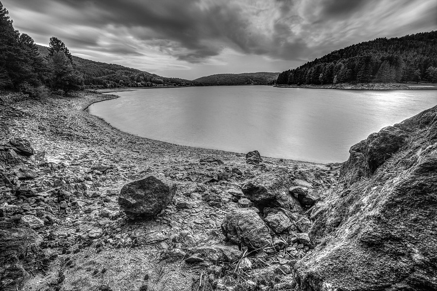 Lake in B&W