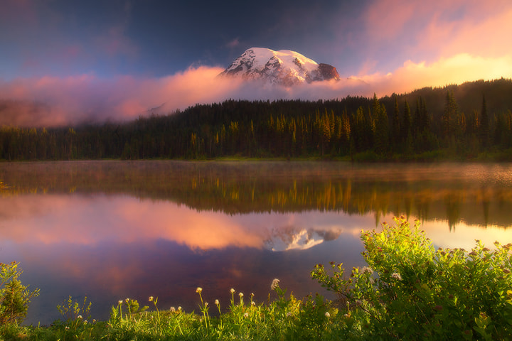 Photograph Mt Rainier - Reflection Lakes Sunrise by Kevin McNeal on 500px