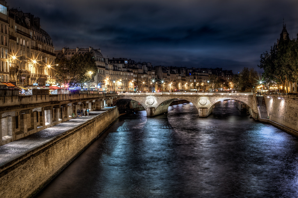Photograph The Seine at Night by  W Brian Duncan on 500px