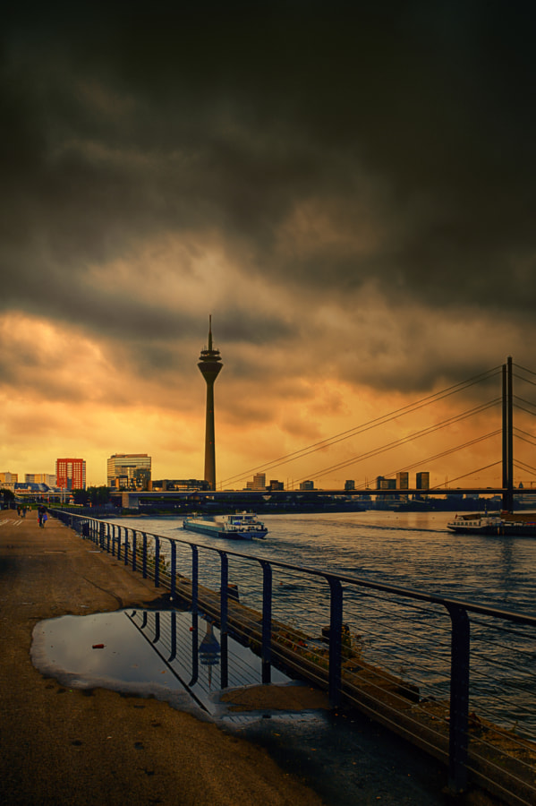 Düsseldorf and Rhine
