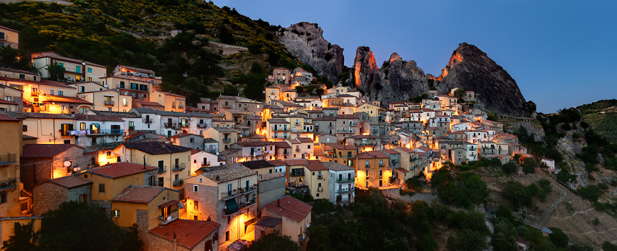 Photograph Panorama of Castelmezzano by Davide Petilli on 500px