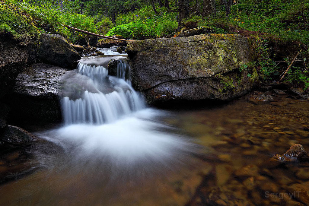 Photograph flowing stream with waterfall  by Sergiy Trofimov on 500px