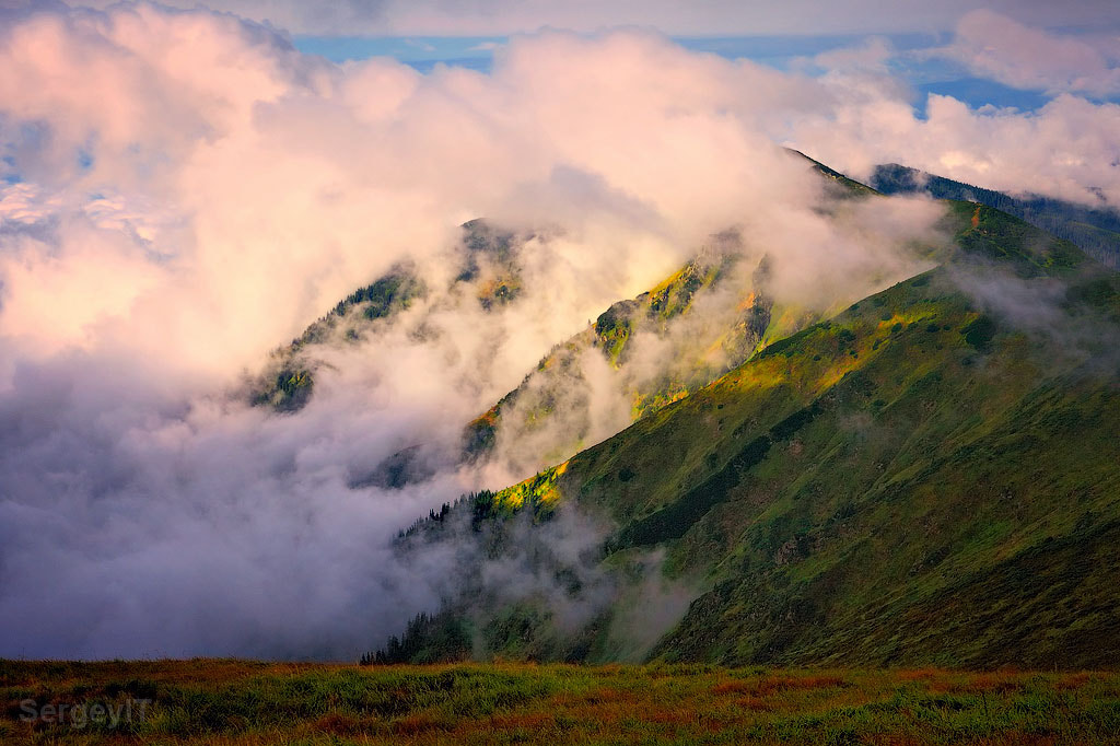 Photograph Carpathians hills in fluffy clouds by Sergiy Trofimov on 500px