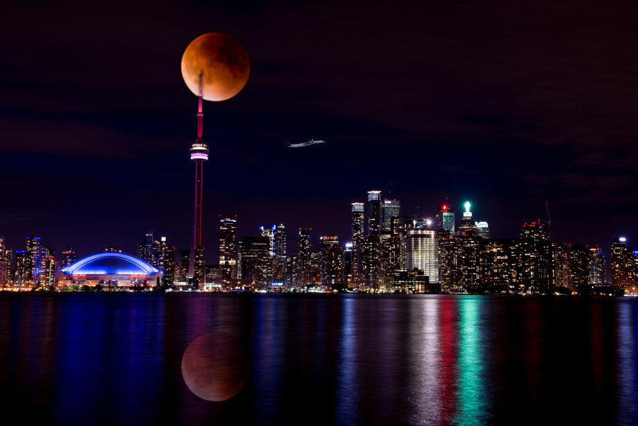 Blood Moon City by Terry Richards on 500px.com