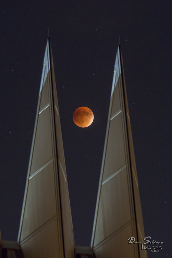 Super Blood Moon Eclipse between the Air Academy Chapel Spires by David Soldano on 500px.com