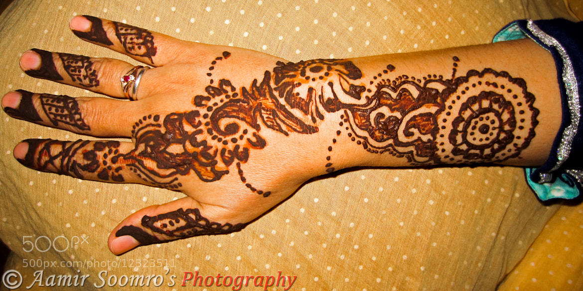 Photograph Mehndi Design by Aamir Soomro on 500px