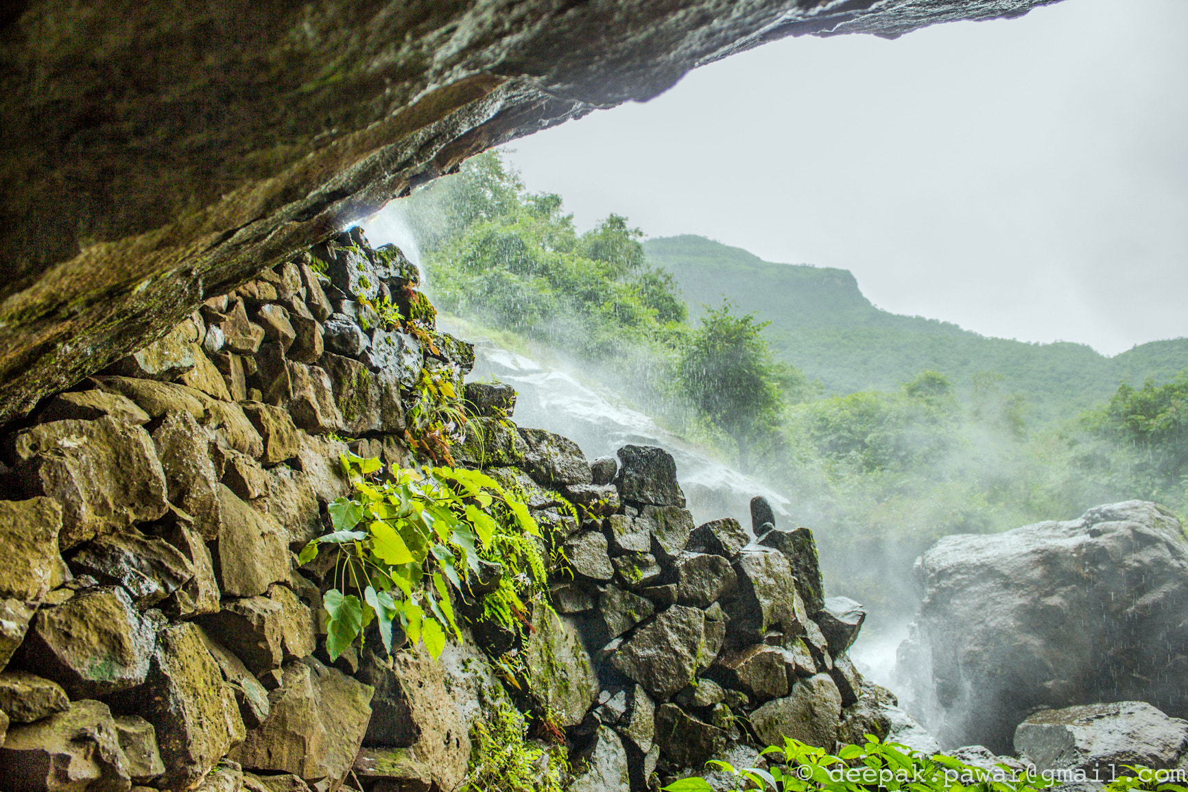 Photograph Clicking from under the waterfall by Deepak Pawar on 500px