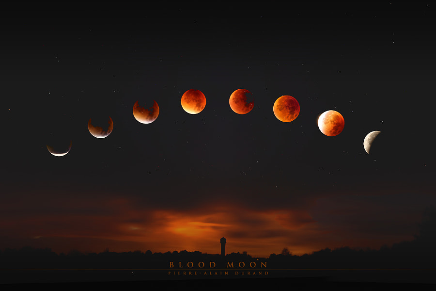 Photograph Super Blood Moon by Pierre-Alain D. on 500px