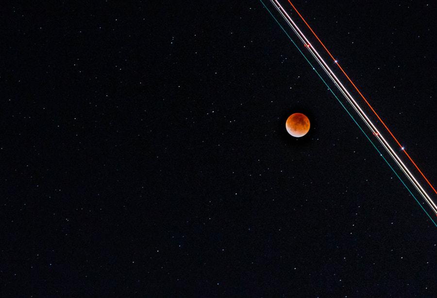 When a plane happens by, Lunar Eclipse Sept 27 2015