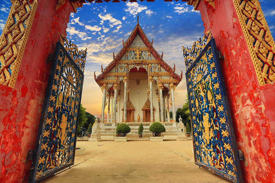 Photograph Thai temple by Prachit Punyapor on 500px