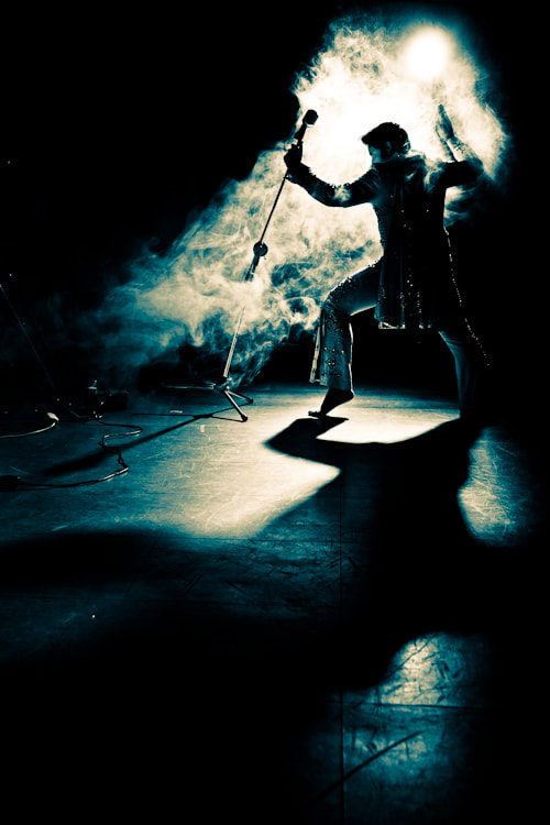 Photograph Elvis on stage by Stefan Mueller on 500px