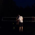 Постер, плакат: Night badminton