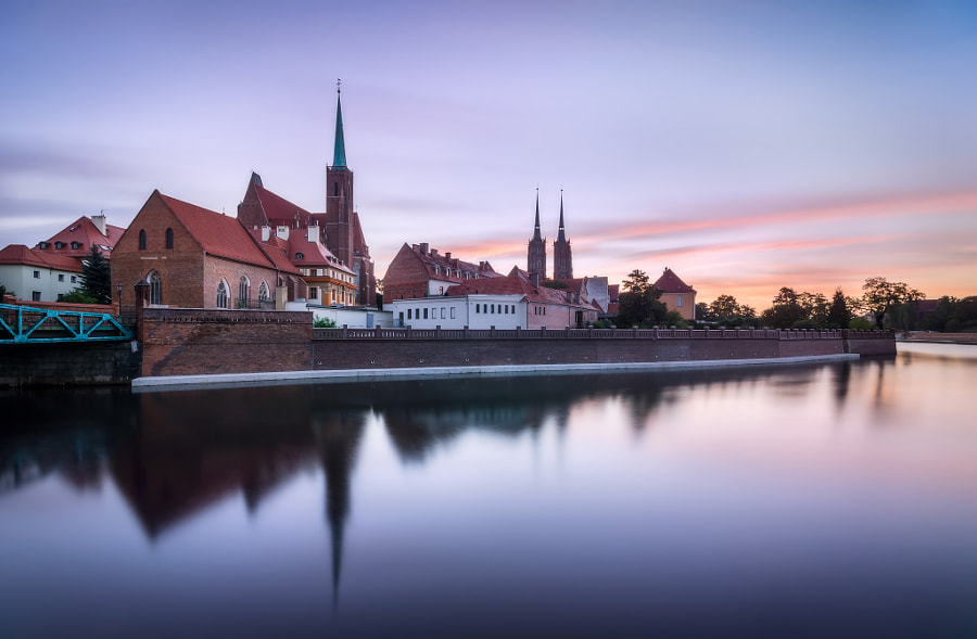 Tranquil dawn in Wroclaw