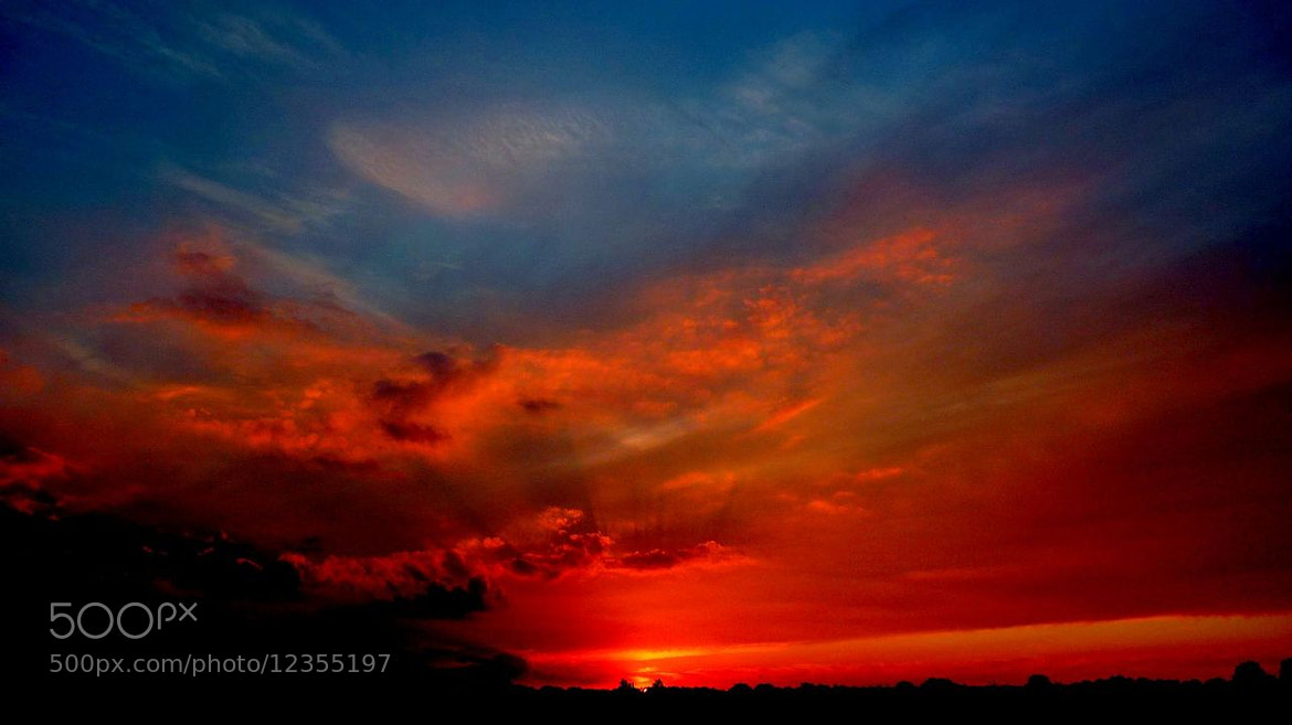Photograph Evening Sky by Kirsten F. on 500px