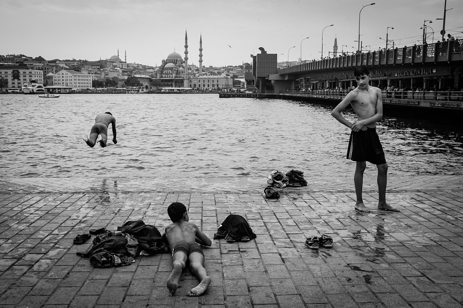 Swimming at Karakoy