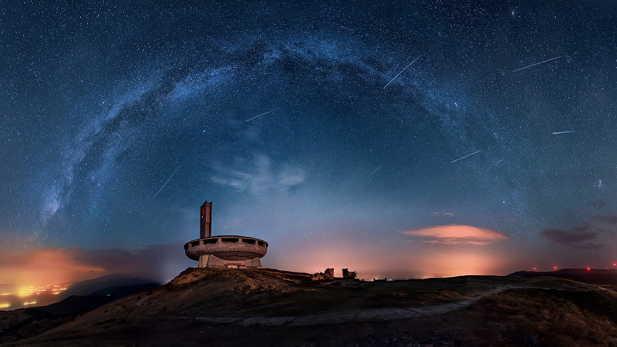 Perseids over the Buzludzha by Ruslan Asanov on 500px.com