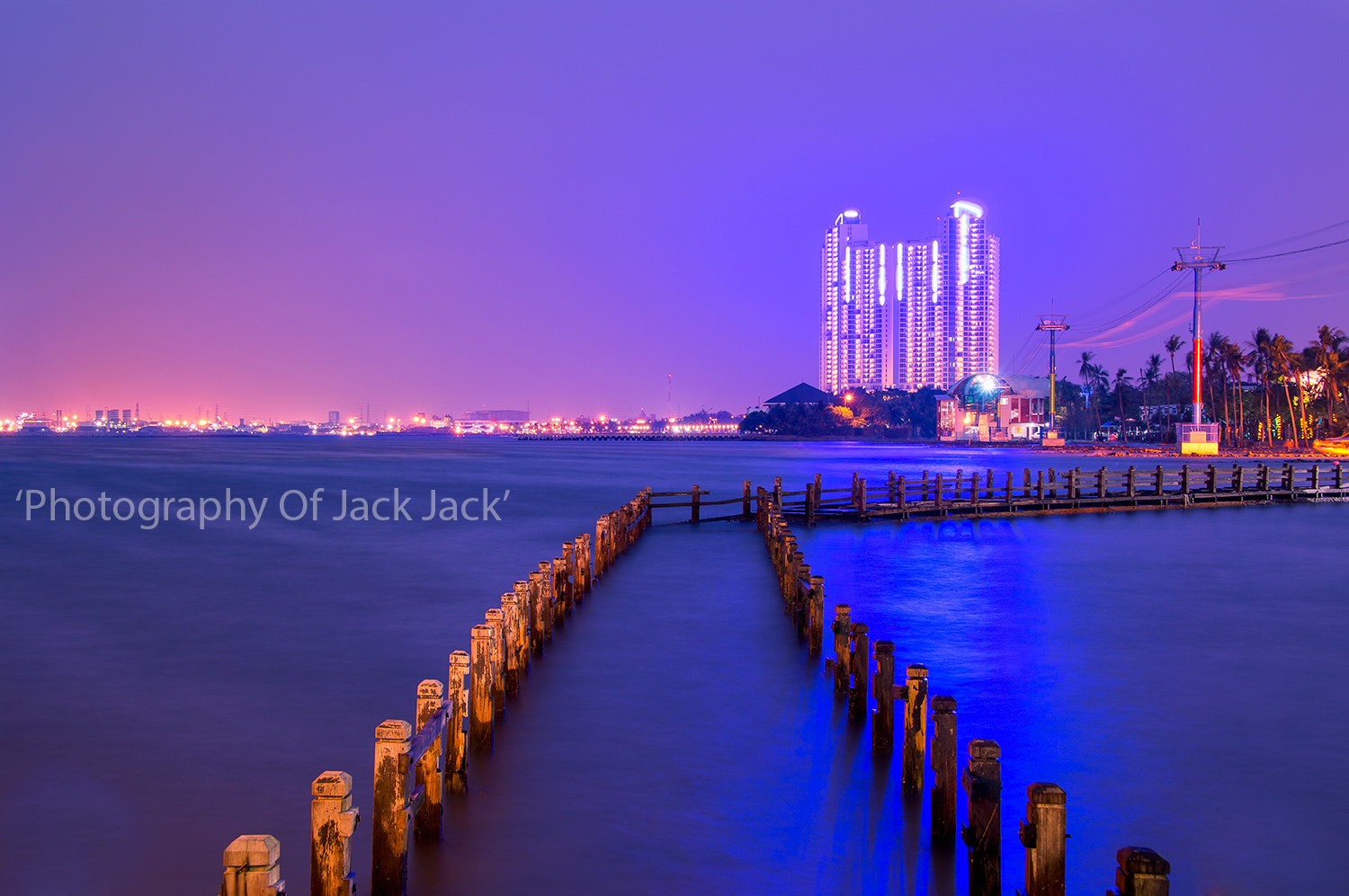 Photograph 'Blue Hour at Ancol Beach' by HENDRIK PRIYANTO on 500px