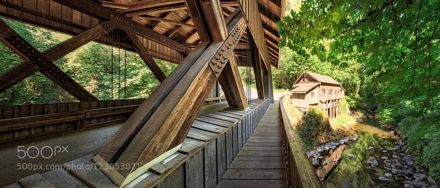 Cedar Greek Grist Mill with Covered Bridge