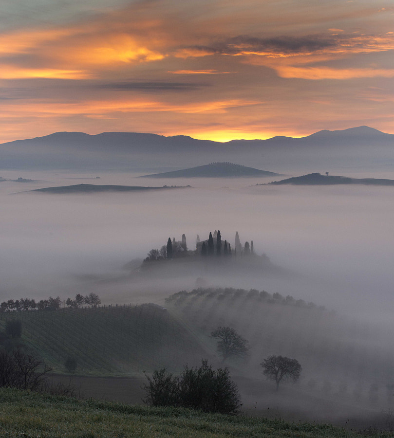 Tuscany landscape by mauro maione
