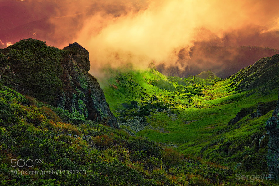 Photograph abstract stone giant and fog over mountain valley by Sergiy Trofimov on 500px