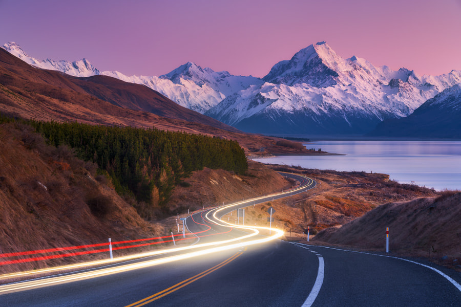Winding to Aoraki by Dylan Toh  & Marianne Lim on 500px.com