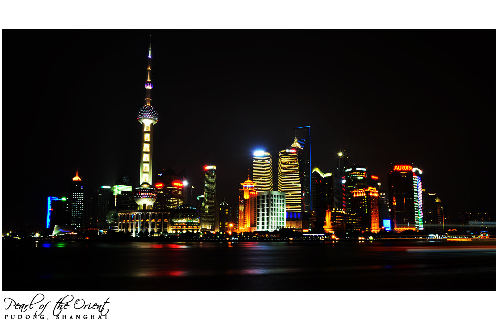 Photograph Shanghai Skyline in the night by Adhi C on 500px