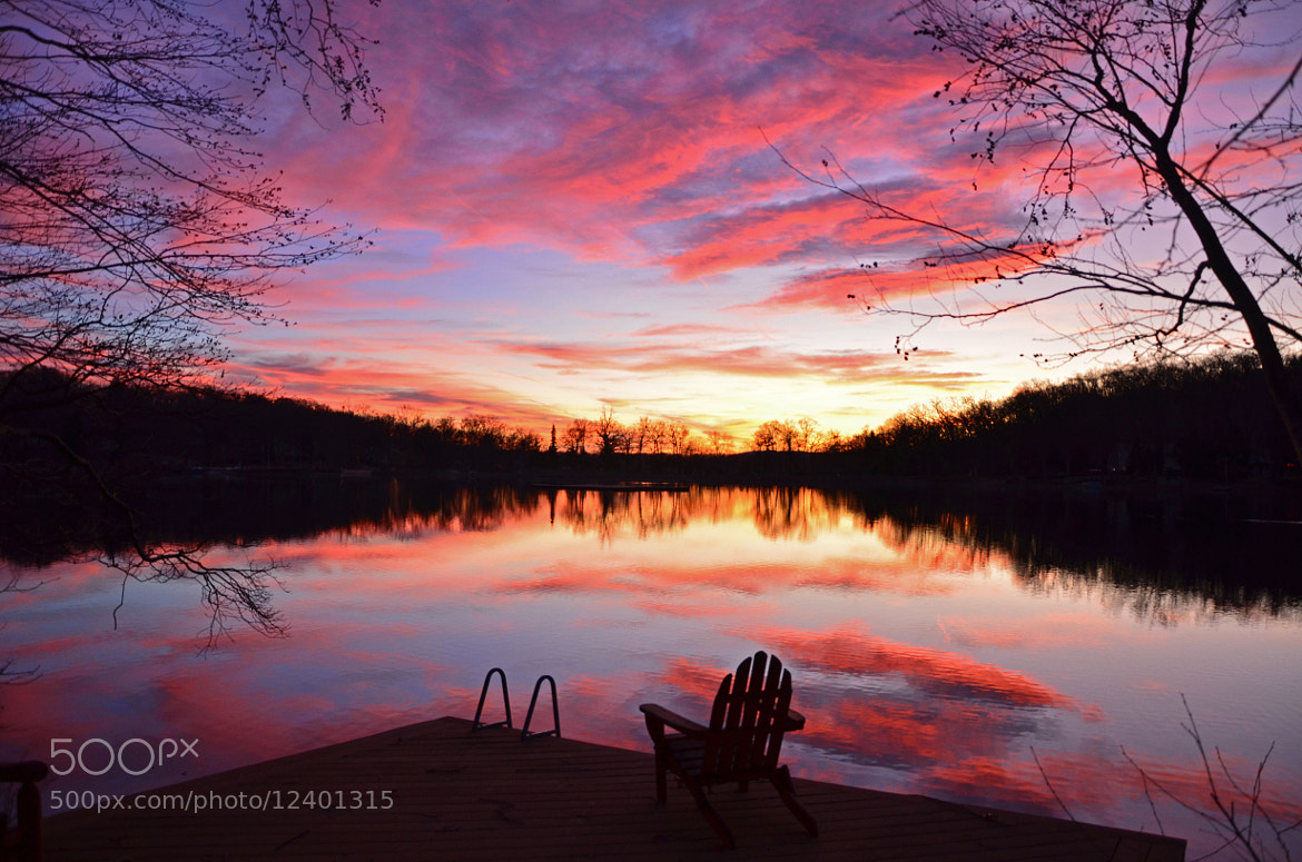 Photograph Sunset over Upper Lake by Scott Vrana on 500px