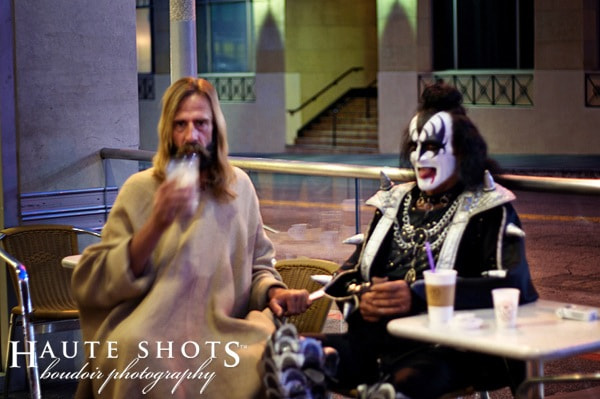 Photograph Strange Pair - Jesus & Gene Simmons by Stacie Frazier on 500px