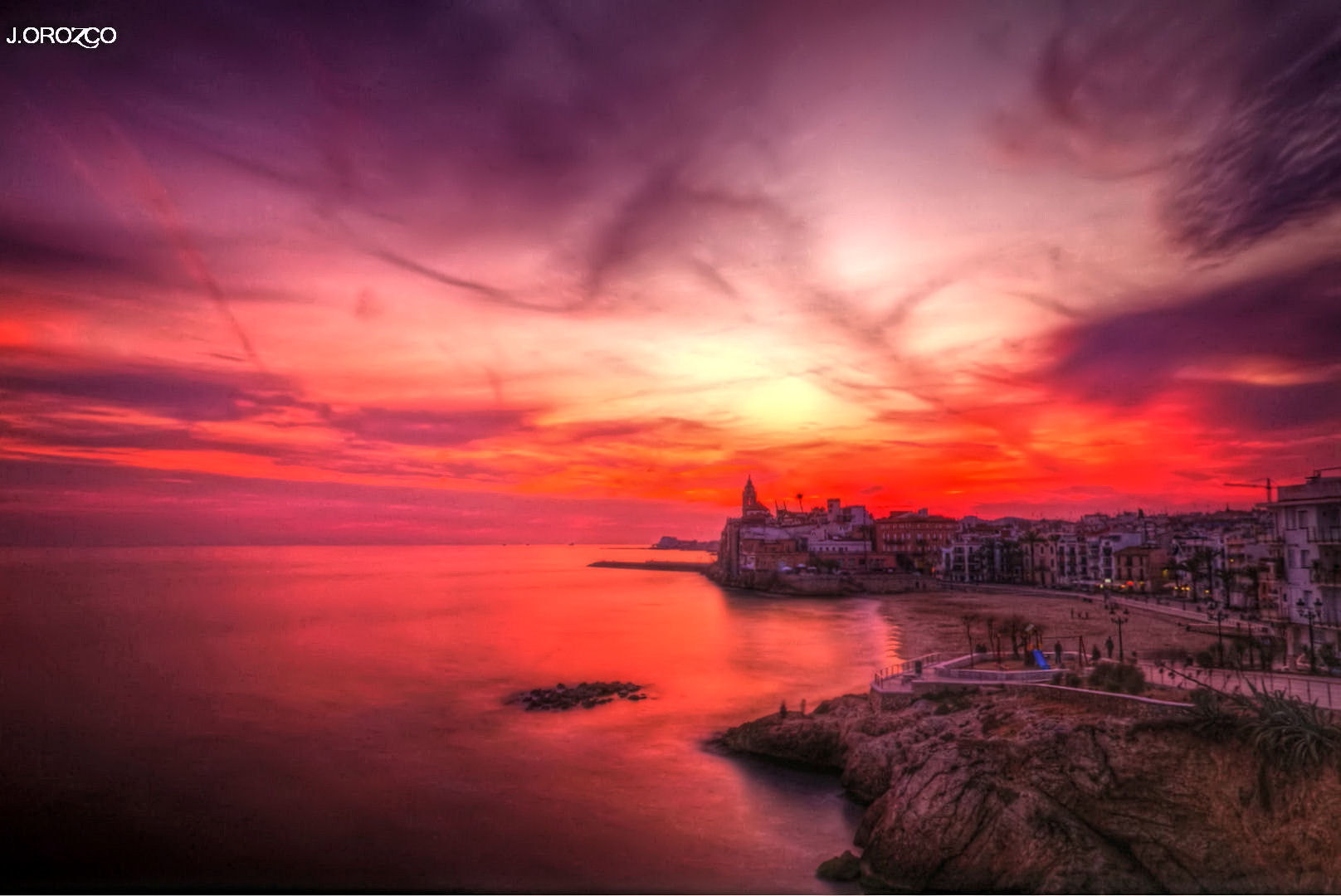 Photograph Atardecer en Sitges. by jose orozco on 500px
