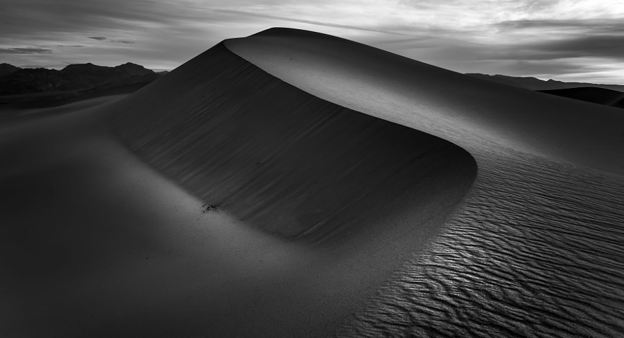 Photograph Clouds over Mesquite Sand Dunes, Death Valley by Mark Houtzager on 500px
