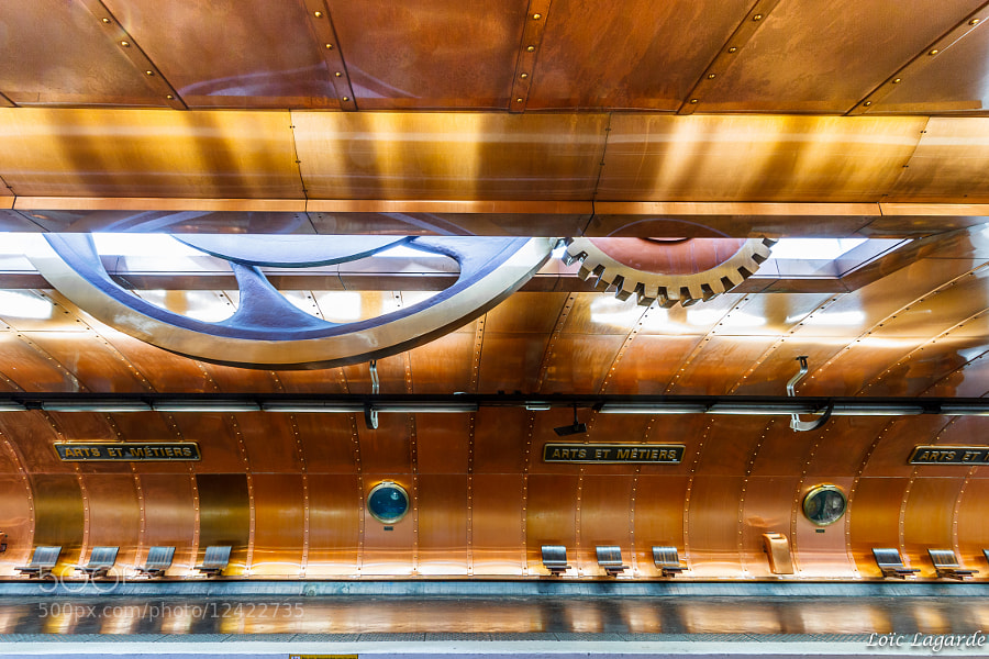Arts-et-Metiers Subway Station (Ligne 11) by Loïc Lagarde (Loic80l)) on 500px.com