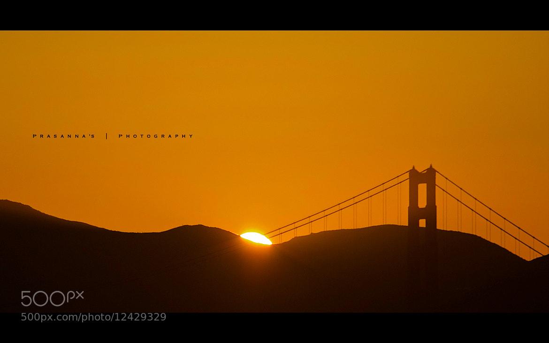 Photograph Golden Gate Sunset by Prasanna Venkatesh Ravichandran on 500px