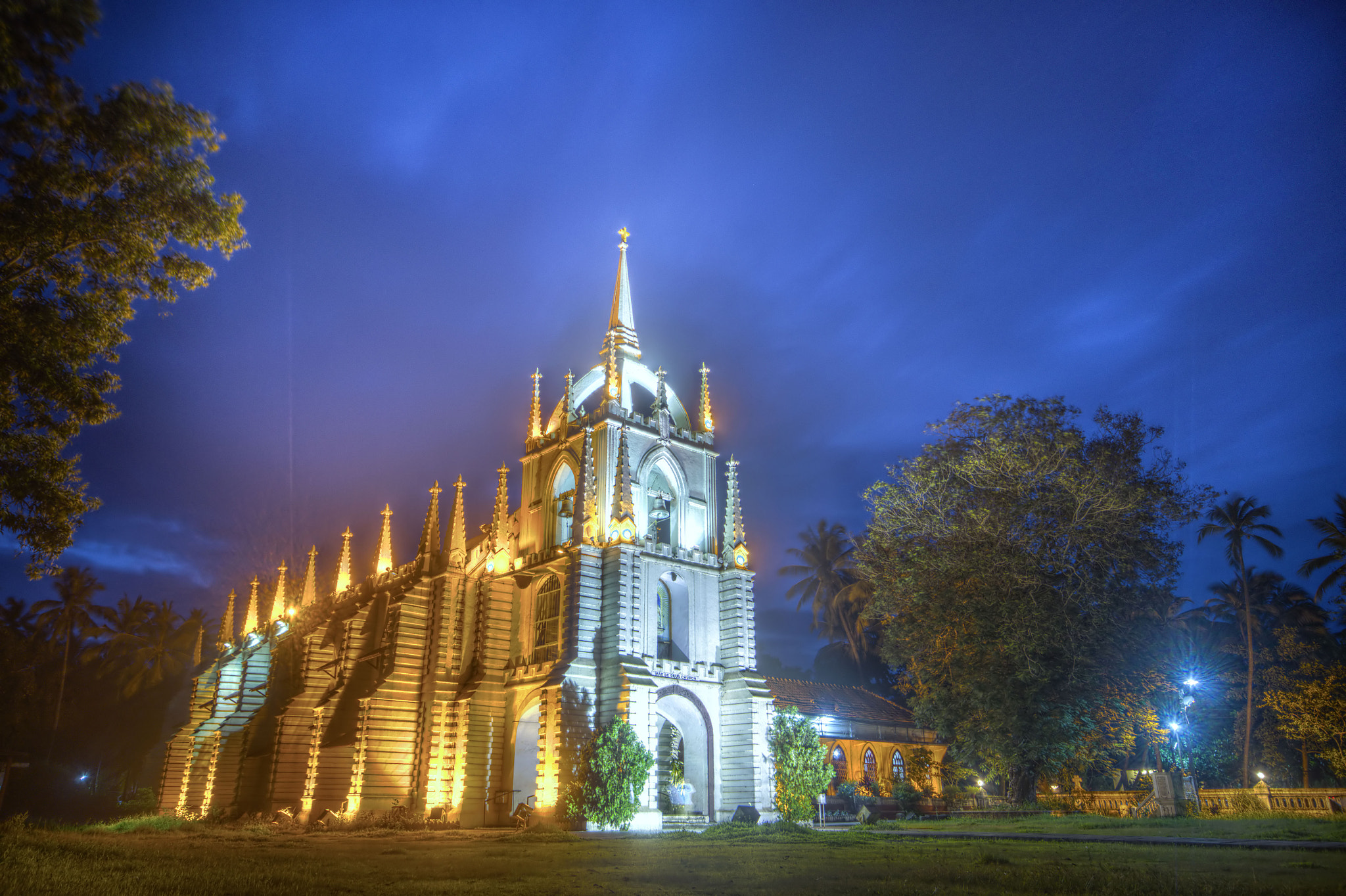Photograph Saligao church HDR by Brendon Fernandes on 500px