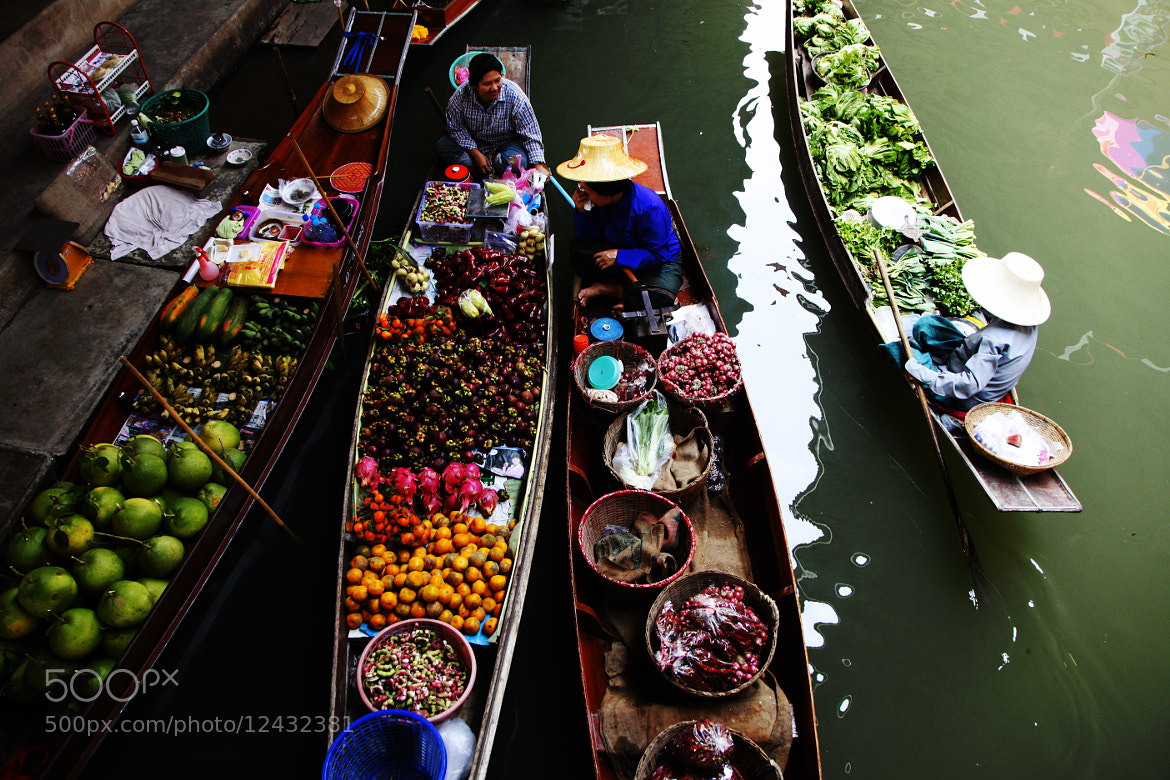 Photograph Floating Market, Thailand by Don Kim on 500px