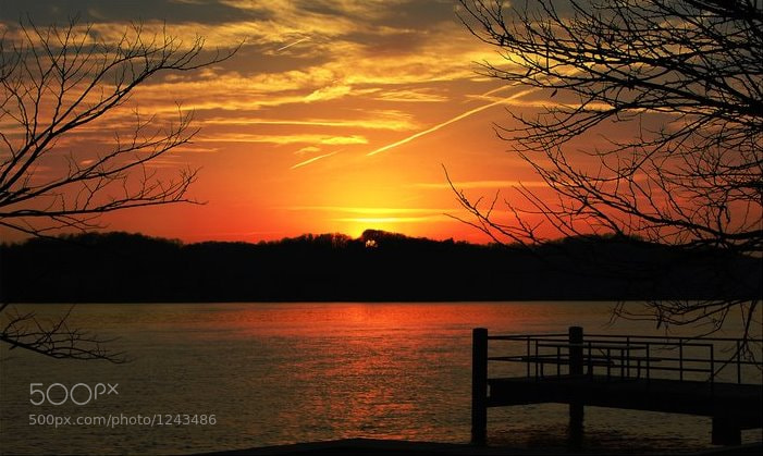 "Photograph ""Blazing Sunset"" by Robert Brown on 500px"