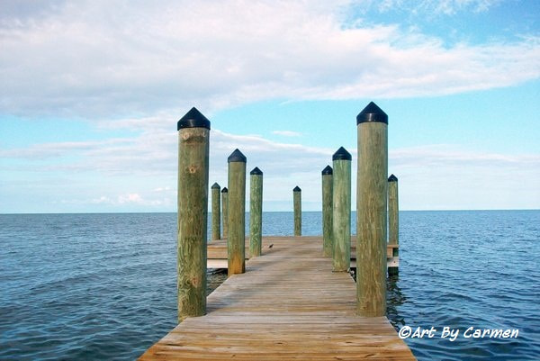 Photograph Pier Out by Ocean Viking on 500px